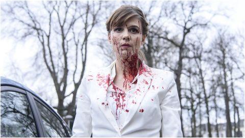 Author Femke Boot (Katja Herbers) fresh from a kill in The Columnist.