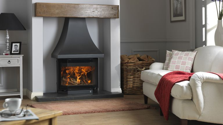 Elmdale wood burning stove by ACR Stoves in living room