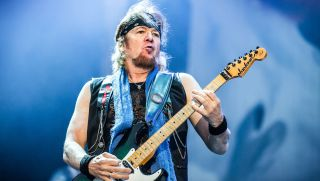 Adrian Smith of Iron Maiden onstage