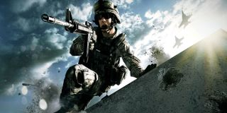 A soldier charges in Battlefield 3