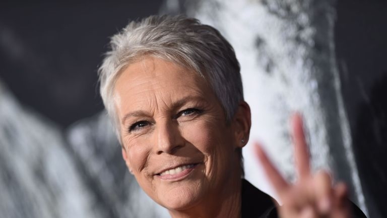"""US actress Jamie Lee Curtis attends the """"Halloween"""" premiere at the TCL Chinese Theatre in Los Angeles, California on October 17, 2018. (Photo by VALERIE MACON / AFP) (Photo credit should read VALERIE MACON/AFP via Getty Images)"""