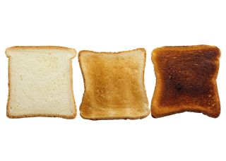 burnt toast, toast, bread