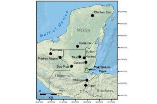Maya region map