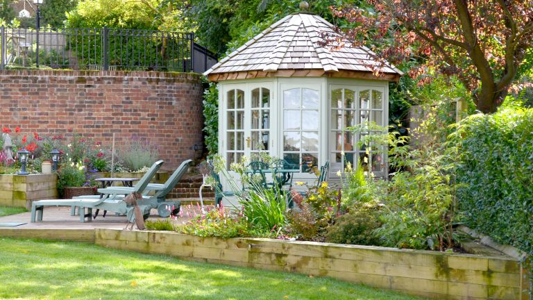 summer house ideas: malvern garden buildings summer house on decking