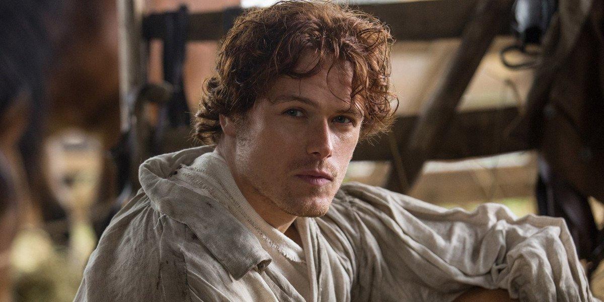 Sam Heughan on Outlander