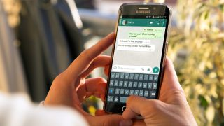 WhatsApp being used on an Android Samsung smartphone