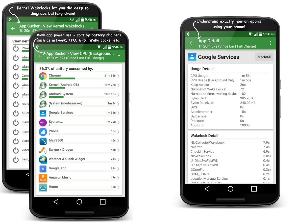 best battery apps: gsam battery monitor