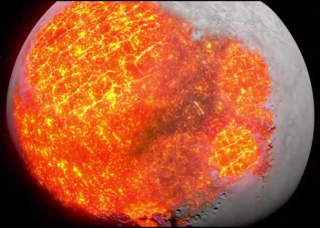 Earth's moon was once so hot that its mantle was completed molten into magma.