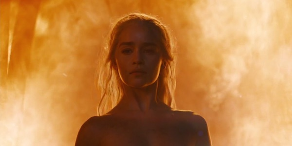 Dany burning the Khals in GOT.