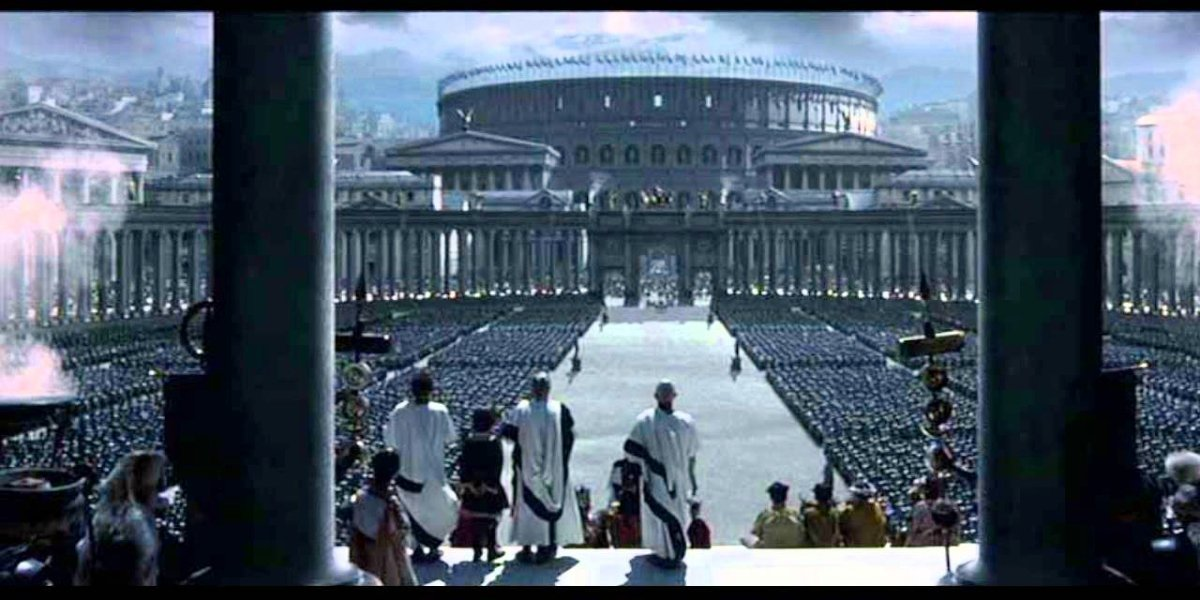 A shot of ancient Rome in Gladiator