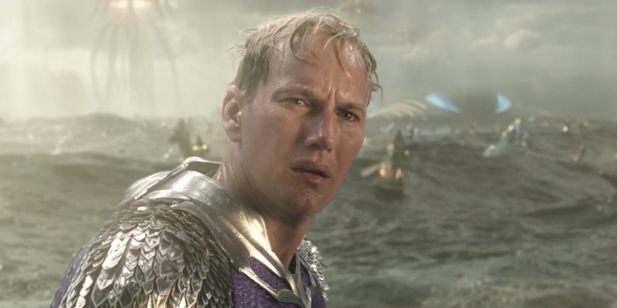 Patrick Wilson in Aquaman's final scene