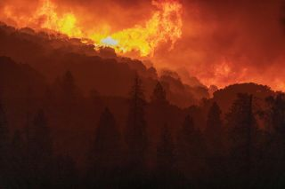 The Creek Fire rapidly moves near Shaver Lake, California on Tuesday (Sept. 8).