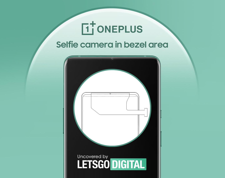 OnePlus selfie camera in bezel
