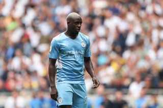 The Manchester City defender Benjamin Mendy, who has been charged with four counts of rape.