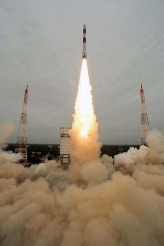 India launches its 100th space mission on Sept. 9, 2012, with the successful flight on Sept. 9, 2012.