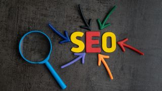 """Play letters spelling out the word """"SEO""""."""