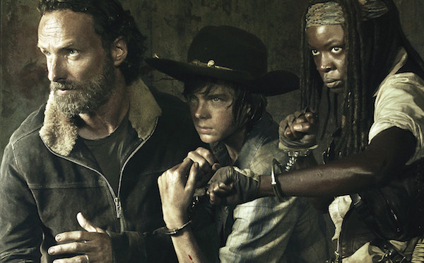 Rick Carl and Michonne