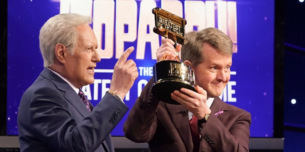 Ken Jennings Alex Trebek Jeopardy