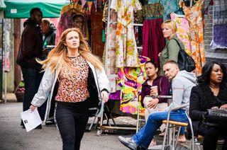 Tiffany Butcher Baker confronts her husband in EastEnders