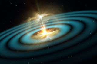 Illustration of gravitational waves.