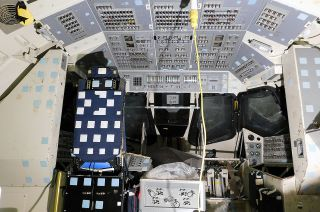 A look inside the space shuttle motion base simulator after it arrived back at NASA's Johnson Space Center on June 3, 2021, nine years after it left. Once restored, the simulator will go on static display at the Lone Star Flight Museum at Ellington Airport.