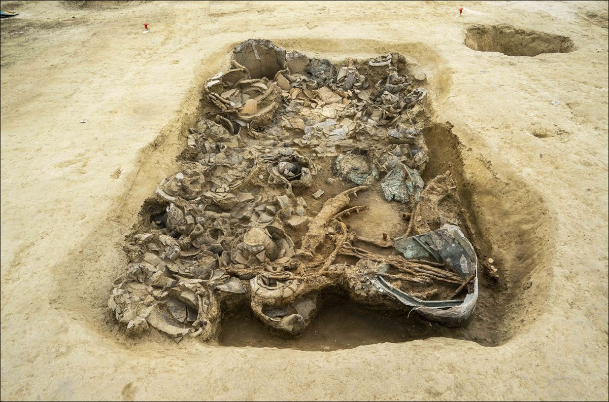 Princely tomb of Iron Age mystery man discovered in Italy. And there's a chariot inside.