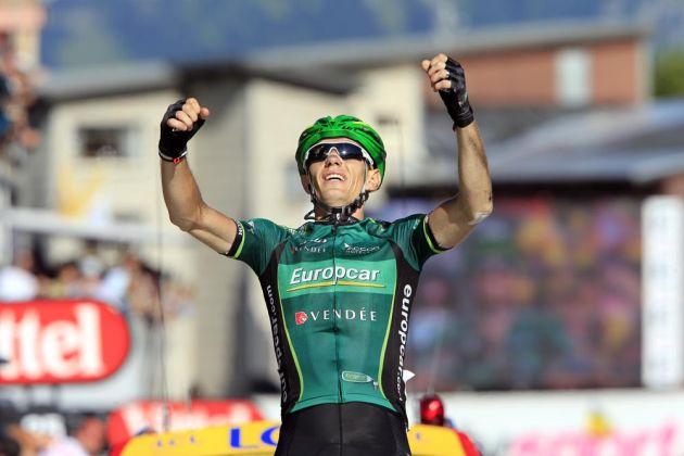 Pierre Rolland wins, Tour de France 2012, stage 11