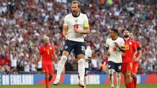 Harry Kane in the England vs Andorra game at Wembley in September 2021