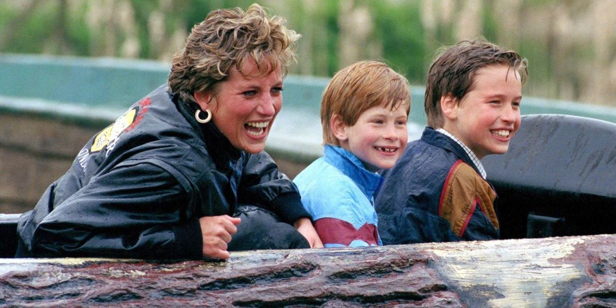 Princess Diana, Prince Harry, and Prince William in Princess Diana, Our Mother: Her Life and Legacy
