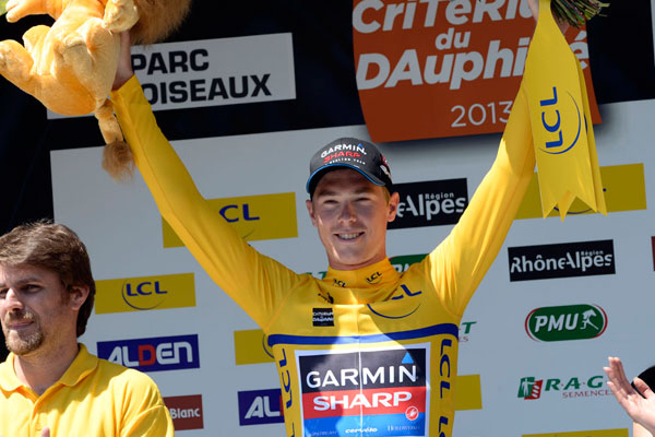 Rohan Dennis takes race lead, Criterium du Dauphine 2013, stage 4 ITT
