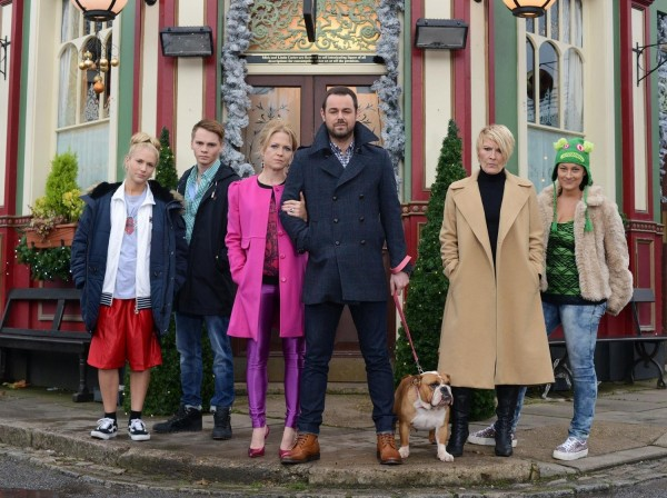 Mick Carter in front of the  Queen Vic