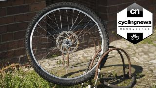 Best bike GPS trackers: Just the wheel remains locked to an anchor, the rest of the bike has been stolen