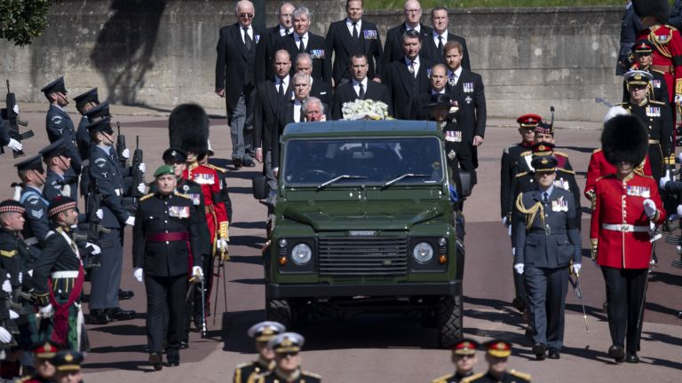 Prince Philip's funeral procession