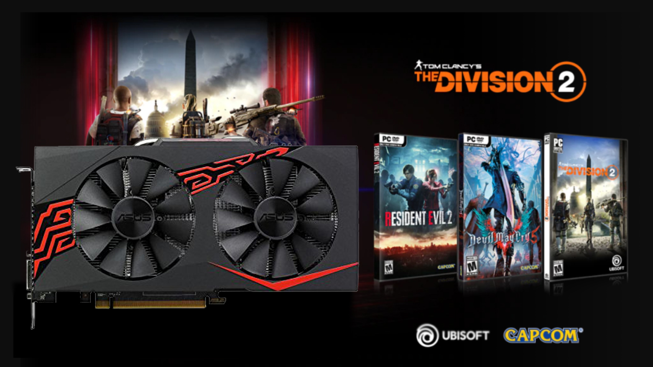 Building a budget PC? Get an RX 570 GPU for £139.99 with 2 free games, including The Division 2, DmC 5, or Resident Evil 2