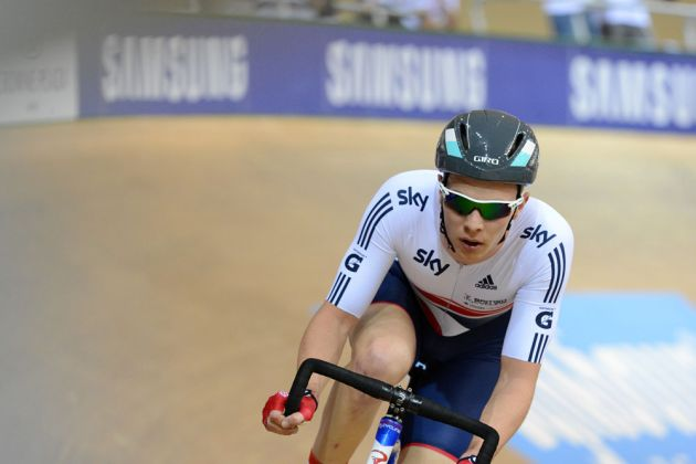 Owain Doull in scratch race, Track World Championships 2013, day two, evening