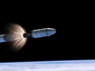 Dragon and Falcon 9 Second Stage