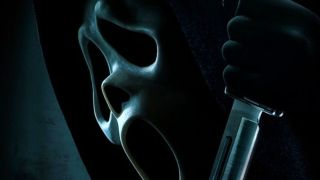 The Scream 5 (2022) movie poster features the Ghostface killer holding a knife