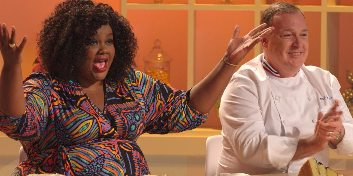 Nicole Byer and Jacques Torres in Nailed It