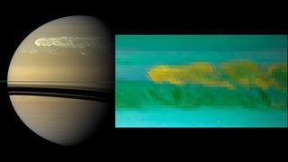 Water Ice on Saturn