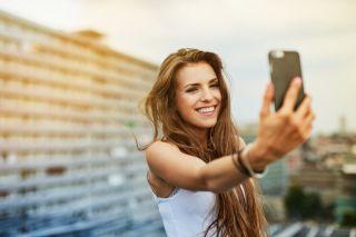 selfie, smartphone, phone, cell phone
