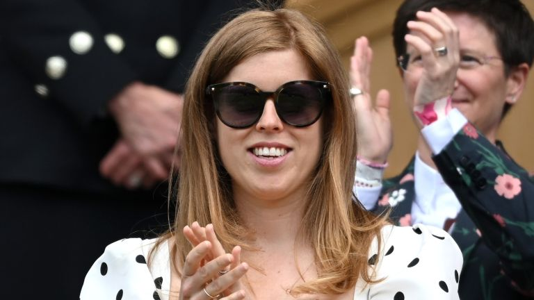 Princess Beatrice, Princess of York attends day 10 of the Wimbledon Tennis Championships at the All England Lawn Tennis and Croquet Club