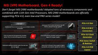 MSI Z490 PCIe 4.0 Support