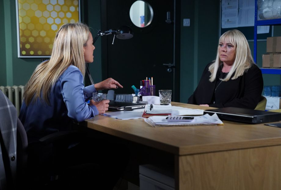 EastEnders Mel Owen has an ultimatum for Sharon Mitchell