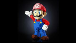 Super Mario life-sized Lego figure by Bricker Builds