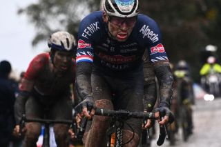 Mathieu van der Poel (Alpecin-Fenix) during Paris-Roubaix 2021