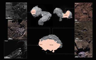 Ice on Comet 67P/Churyumov-Gerasimenko