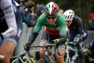 Italian road race champion Marta Bastianelli (Alé BTC Ljubljana) – pictured at the 2020 Omloop Het Nieuwsblad – is one of only very few mothers in the women's professional peloton