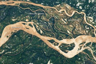 Parana River floodplain in South America