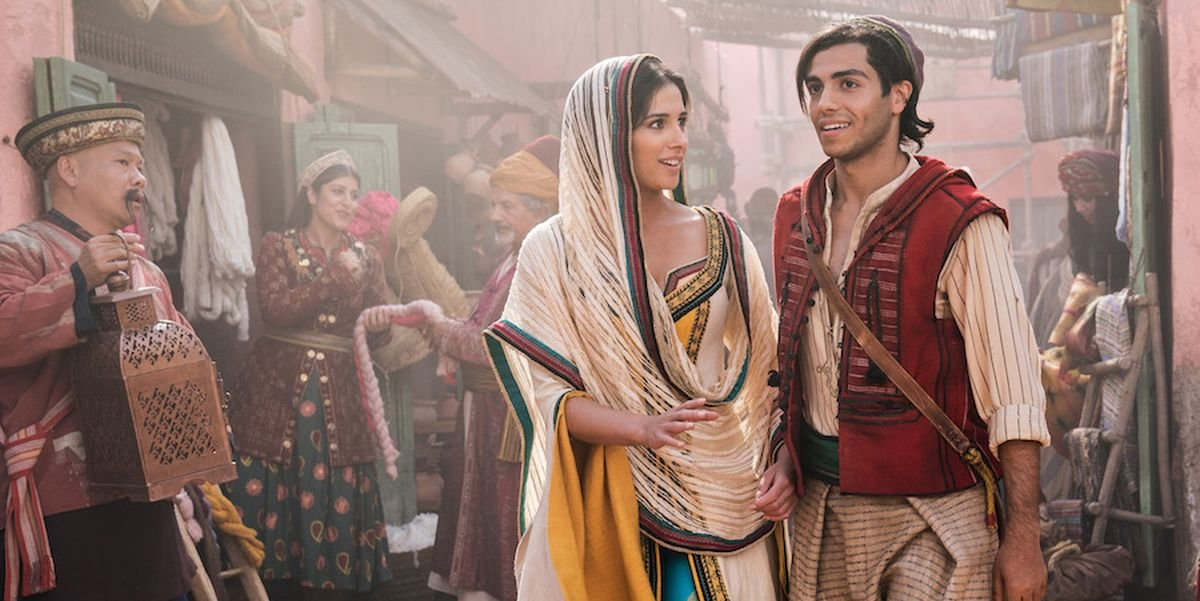 Jasmine and Aladdin in the live-action remake