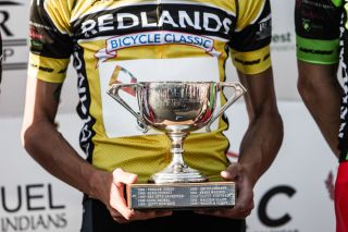 Phil Gaimon (Optum) takes home another Redlands trophy after winning the overall.